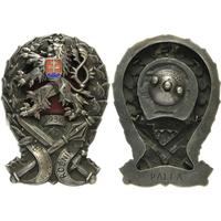Odznak pro absolventy čs. válečné školy 1936 - Benešův ročník, punc, na rubu vyryto P
