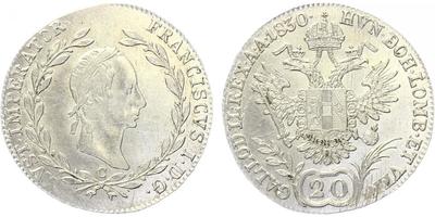 20 krejcar 1830 C