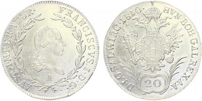 20 krejcar 1810 A