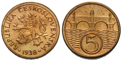 5 haléř 1938