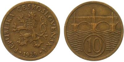 10 haléř 1929