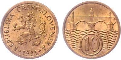 10 haléř 1935