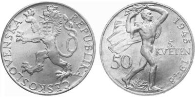 50 koruna 1948 - 3. výročí pražského povstání