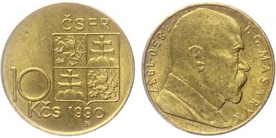 10 koruna 1990, varianta E - RONAI