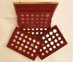 Soubor pamětních mincí 1954 - 1993, luxusní dřevěná etue, celkem 95 ks, Nov.100-194