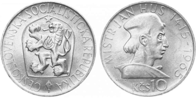 10 Koruna 1965 - Mistr Jan Hus