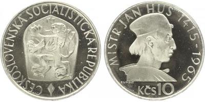 10 Koruna 1965 - Mistr Jan Hus, PROOF, nepůvodní etue