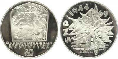 25 Koruna 1969 - 25. výročí SNP, PROOF