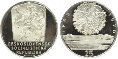 25 Koruna 1970 - 25. výročí osvobození Československa, PROOF
