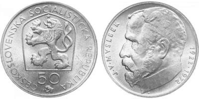 50 Koruna 1972 - Josef Václav Myslbek