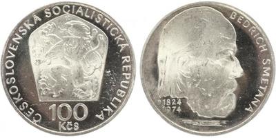 100 Koruna 1974 - Bedřich Smetana, PROOF