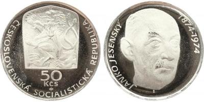 50 Koruna 1974 - Ján Jesenský, PROOF