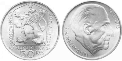 50 Koruna 1975 - Stanislav Kostka Neumann