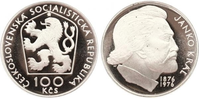 100 Koruna 1976 - Janko Kráľ, PROOF