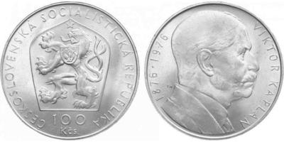 100 Koruna 1976 - Viktor Kaplan