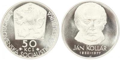 50 Koruna 1977 - Ján Kollár, PROOF