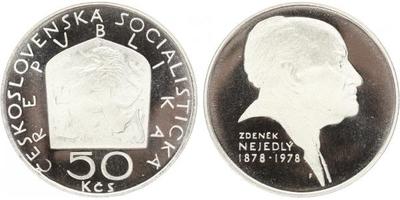 50 Koruna 1978 - Zdeněk Nejedlý, PROOF