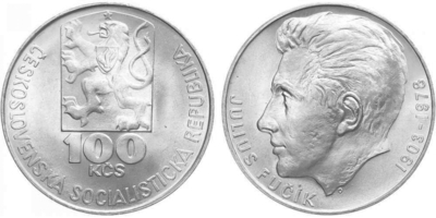 100 Koruna 1978 - Július Fučík