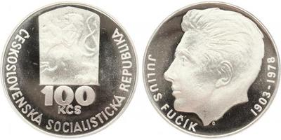 100 Koruna 1978 - Július Fučík, PROOF