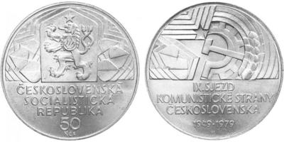 50 Koruna 1979 - IX. sjezd KSČ