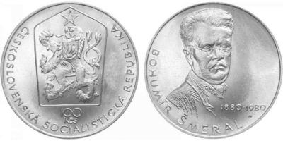100 Koruna 1980 - Bohumír Šmeral