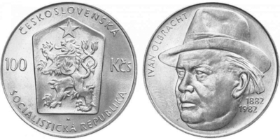 100 Koruna 1982 - Ivan Olbracht
