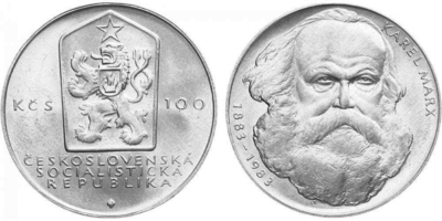 100 Koruna 1983 - Karel Marx
