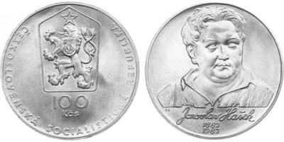 100 Koruna 1983 - Jaroslav Hašek