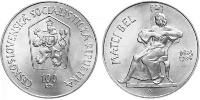 100 Koruna 1984 - Matej Bel