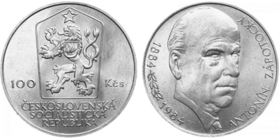 100 Koruna 1984 - Antonín Zápotocký