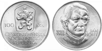 100 Koruna 1985 - Ján Hollý
