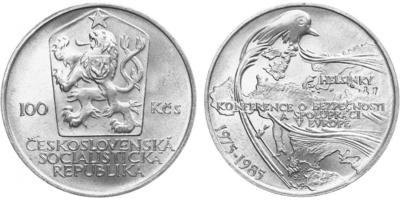 100 Koruna 1985 - Konference v Helsinkách