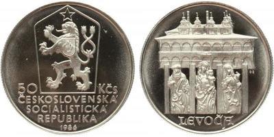 50 Koruna 1986 - Městká památková rezervace Levoča, PROOF