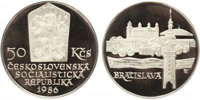 50 Koruna 1986 - Městká památková rezervace Bratislava, PROOF