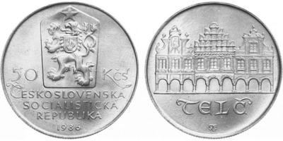 50 Koruna 1986 - Městká památková rezervace Telč,