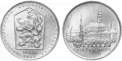 50 Koruna 1986 - Městká památková rezervace Český Krumlov