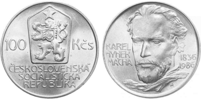 100 Koruna 1986 - Karel Hynek Mácha