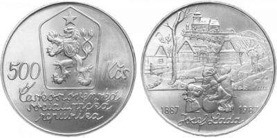 500 Koruna 1987 - Josef Lada