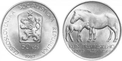 50 Koruna 1987 - Kůň Převalský