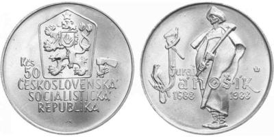 50 Koruna 1988 - Juraj Jánošík