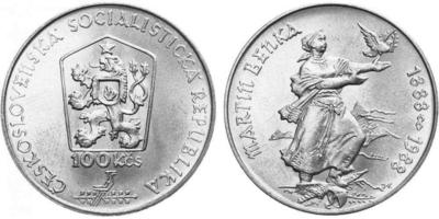 100 Koruna 1988 - Martin Benka