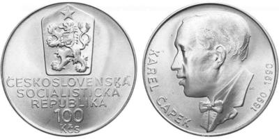 100 Koruna 1990 - Karel Čapek