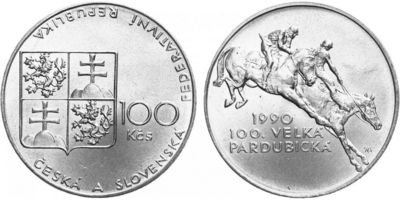 100 Koruna 1990 - Velká Pardubická