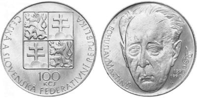 100 Koruna 1990 - Bohuslav Martinů