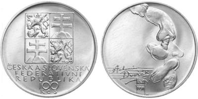 100 Koruna 1991 - Antonín Dvořák