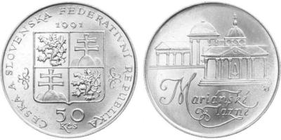 50 Koruna 1991 - Mariánské Lázně