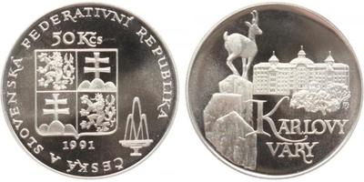50 Koruna 1991 - Karlovy Vary, PROOF