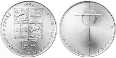 100 Koruna 1992 - Lidice a Ležáky