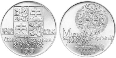 100 Koruna 1993 - Muzeální slovenská společnost
