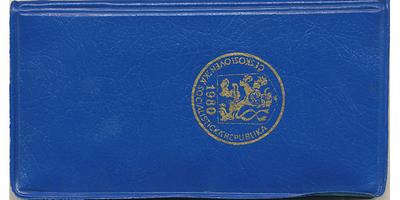 Ročníková sada mincí 1980, modrý obal